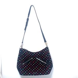 Vera Bradley Vivian hobo black shoulder bag